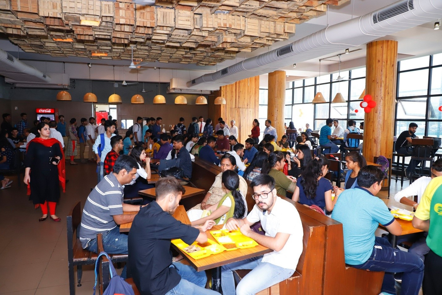 canteen at B.Tech college in Noida