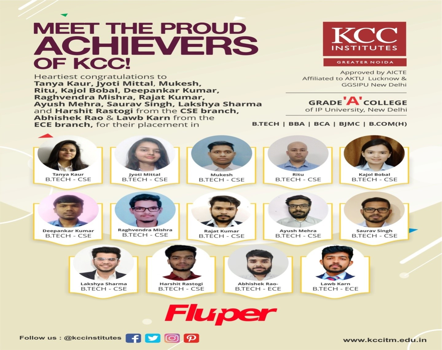 PLACEMENTS at KCC Institutes