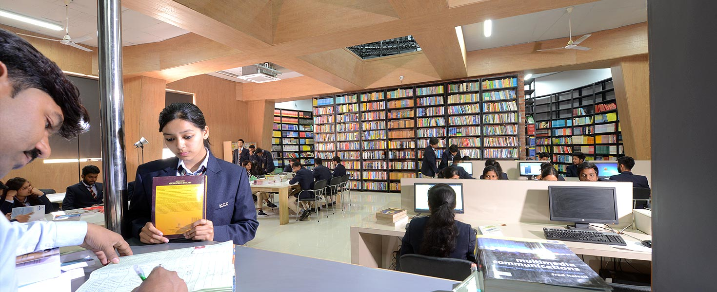 library of KCC institute Greater Noida