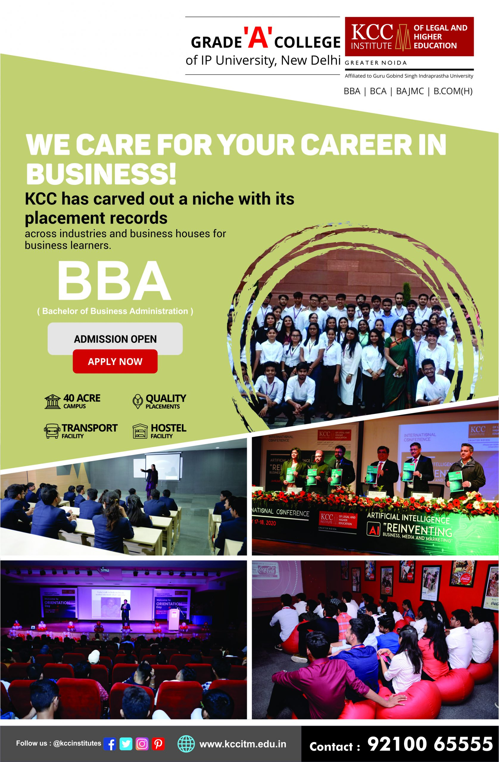 BBA Admission in IP University